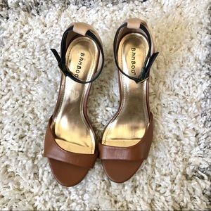 Bamboo Ankle Strap Heels Size 8.5